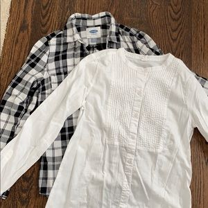 OLD NAVY button front shirts